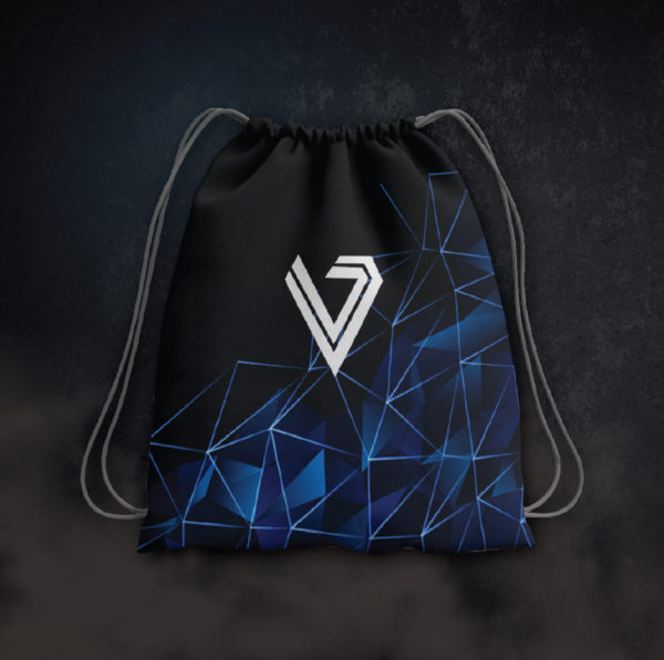 Race to Victory - Blue Drawstring Bag